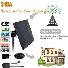 SATXTREM HD ТВ антенна цифровая 160 км дальность наружного сигнала в помещении приема усиленный усилитель 32,8 футов кабель ТВ антенна