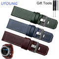 For Garmin Fenix 3 Quality Genuine Leather Watch band Mens Brown Thickening Leather Strap For Garmin