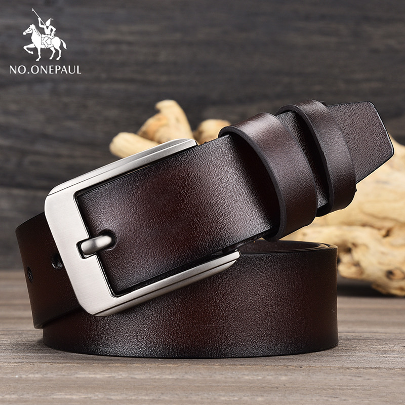 NO.ONEPAUL Men New Belt Retro Punk Style Alloy Material Pin Buckle Dress Party Men's Business Fashion Leather Belt Free Shipping