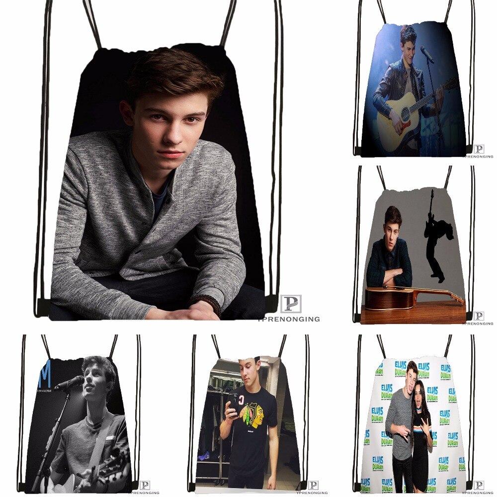 CustomShawn Mendes 1 Drawstring Backpack Bag Cute Daypack Kids Satchel Black Back 31x40cm 180531 02 41