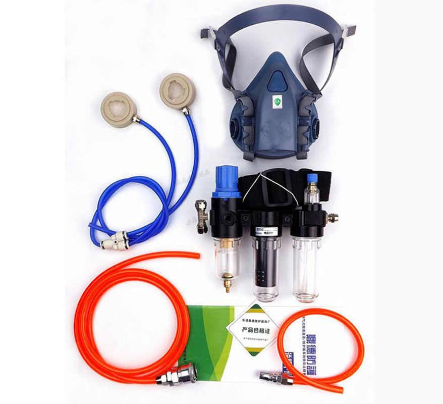 Industry Function Supplied Air Fed Respirator System For 3 M 7502 Half Face Respirator Gas Mask in Chemical Respirators from Security Protection