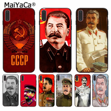 MaiYaCa Stalin Soviet Union Popular Unique Design Phone Cover for Apple iPhone 8 7 6 6S Plus X XS MAX 5 5S SE XR