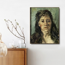 Head of a prostitute by Von Gogh Poster Print Canvas Painting Calligraphy Home Decor Wall Art Pictures for Living Room Bedroom