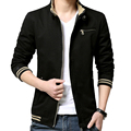 Hot Mens Jackets And Coats Casual Cotton Jacket Solid Color Slim Zipper Jacket Coat Jaqueta Masculina Plus Size 4XL Veste Homme
