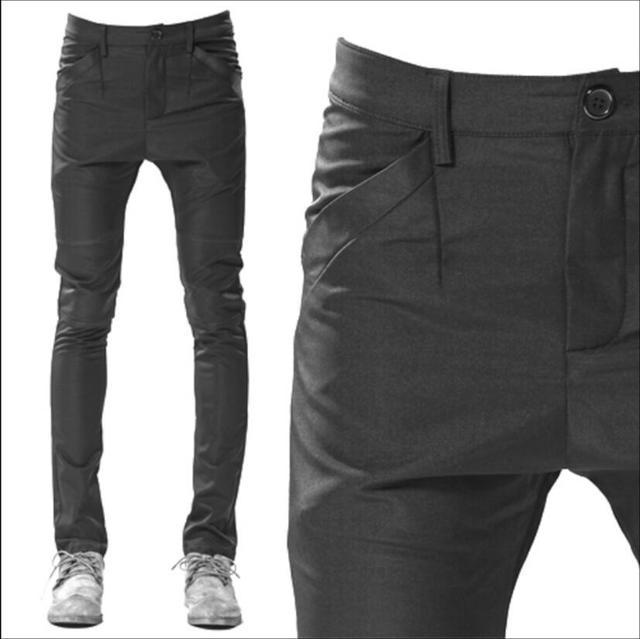 0ad18537928 27-44 Men s new Casual pants boot cut taper pants skinny pants harem pants  male hairstylist slim long trousers singer costumes