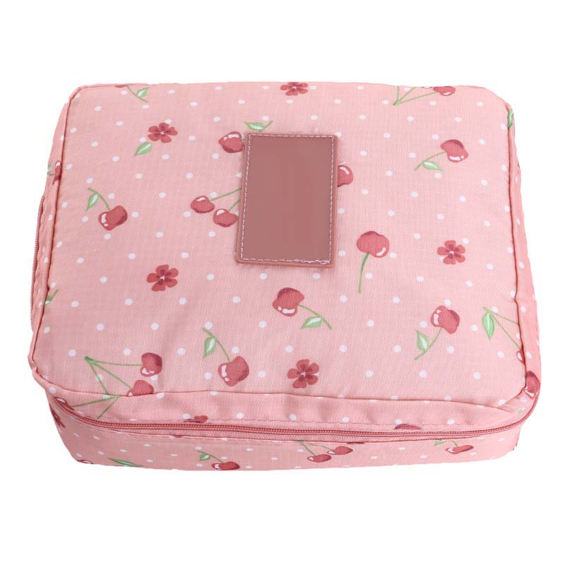 NIBESSER Floral Print Cosmetic Bag Makeup Organizers Portable Beauty Pouch Functional Bag Toiletry Kit Make Up Wash Toilet Bag