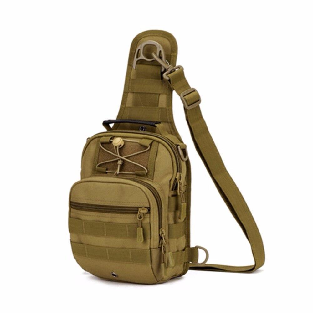 Men Tactical Military 1000D Nylon Travel Hiking Messenger Sling Pack Chest Bag