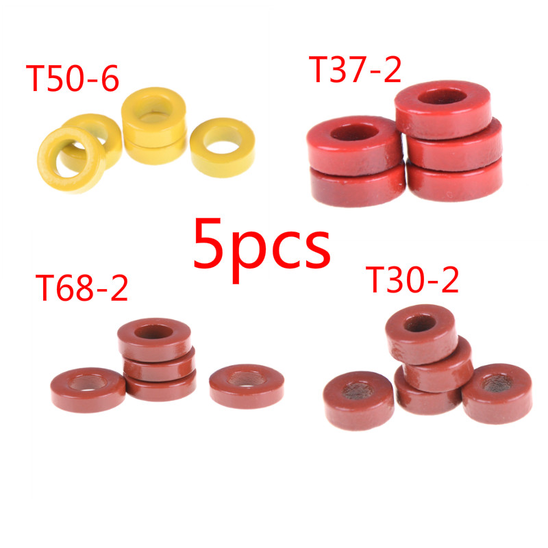 5pcs/lot T50-6 T30-2 T68-2  T37-2 Carbonyl Iron Powder Core Carbonyl Iron Core High Frequency Radio Frequency Magnetic Cores