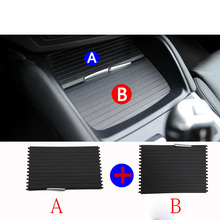 Car Center Console Cover Slide Roller Blind Mounts Drinks Holders For BMW X5 E70 X6 E71 2008-2014 Water Cup Rack Styling