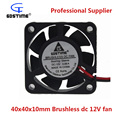 Gdstime 5pcs/lot 40mm*10mm DC 12V 2Pin Brushless Fan Cooler 4cm 4010s Computer PC Cooling Case Fan 40x40x10mm Cooling Fan