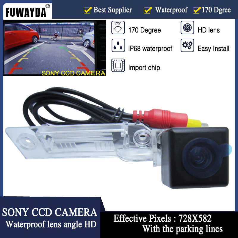 FUWAYDA KHÔNG THẤM NƯỚC xe rear view camera HD SONY CCD camera đối với VW GOLF PASSAT TOURAN CADDY SUPERB/T5 TRANSPORTER PLUS/MULTIVAN T5