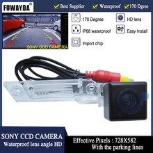 FUWAYDA IMPERMEABILE macchina fotografica di retrovisione HD SONY ccd per VW GOLF PASSAT TOURAN CADDY SUPERBO/T5 TRANSPORTER/MULTIVAN T5