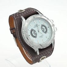 6dd43f2cd2f Grande Moda De Luxo Grande Faux Leather Strap Homens Relógios De Pulso Lady  Mulheres Quartz Rodada