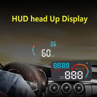 4 inch Electronic Car Head Up Display D200 Car OBD2 HUD Display Speed RPM Fuel Consumption Water Temperature Projector