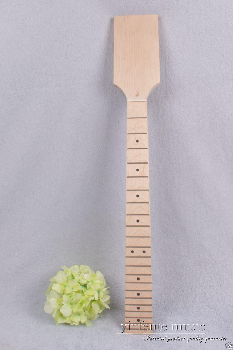 Electric guitar neck 22 fret Maple wood Fretboard Unfinished dot inlay #871 new electric guitar neck maple wood 22 fret 24 75 truss rod bird inlay 767