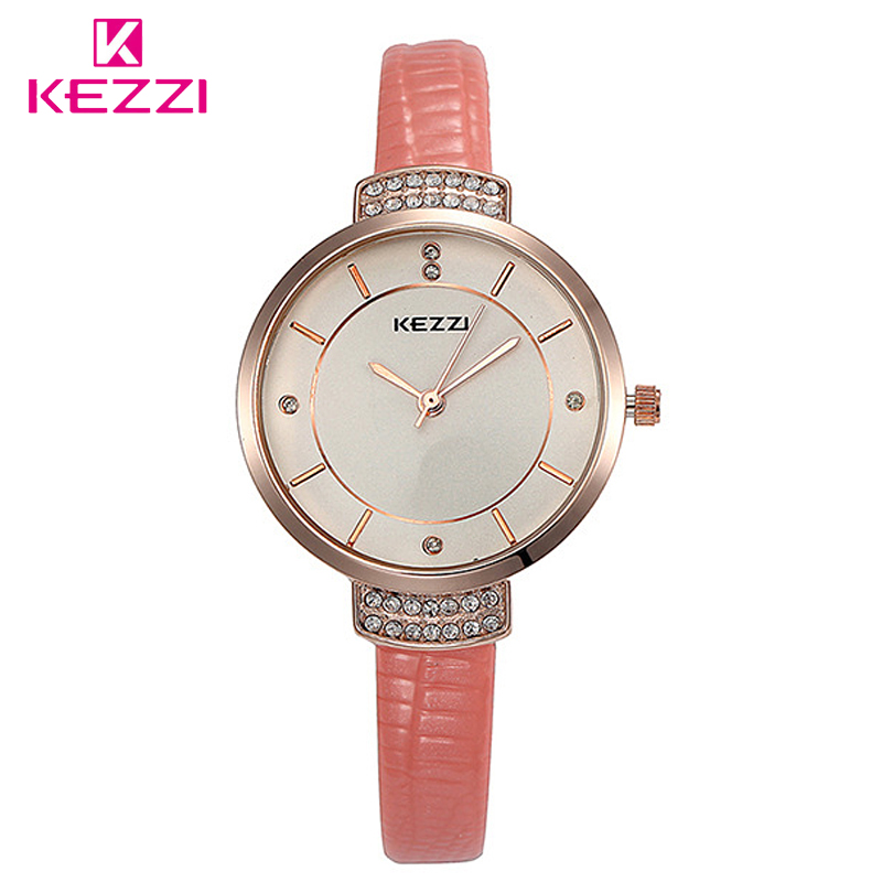 New Fashion Brand KEZZI Women Casual Quartz Watch Clock Lady Girl Diamond Analog Dress Watch Relojes Waterproof Wristwatch free shipping kezzi women s ladies watch k840 quartz analog ceramic dress wristwatches gifts bracelet casual waterproof relogio