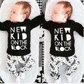2017 Новая Мода baby boy одежда unisex детская одежда с длинными рукавами футболка + Творческий брюки новорожденного девушка комплект одежды ST228