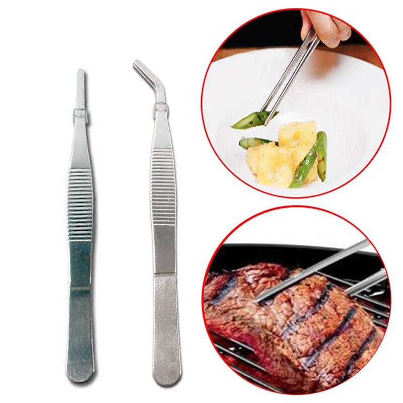 1pcs multi popuse Stainless Steel Tweezers High precision household medical extension long Electronic repair Food tweezers in Industrial Tweezers from Tools