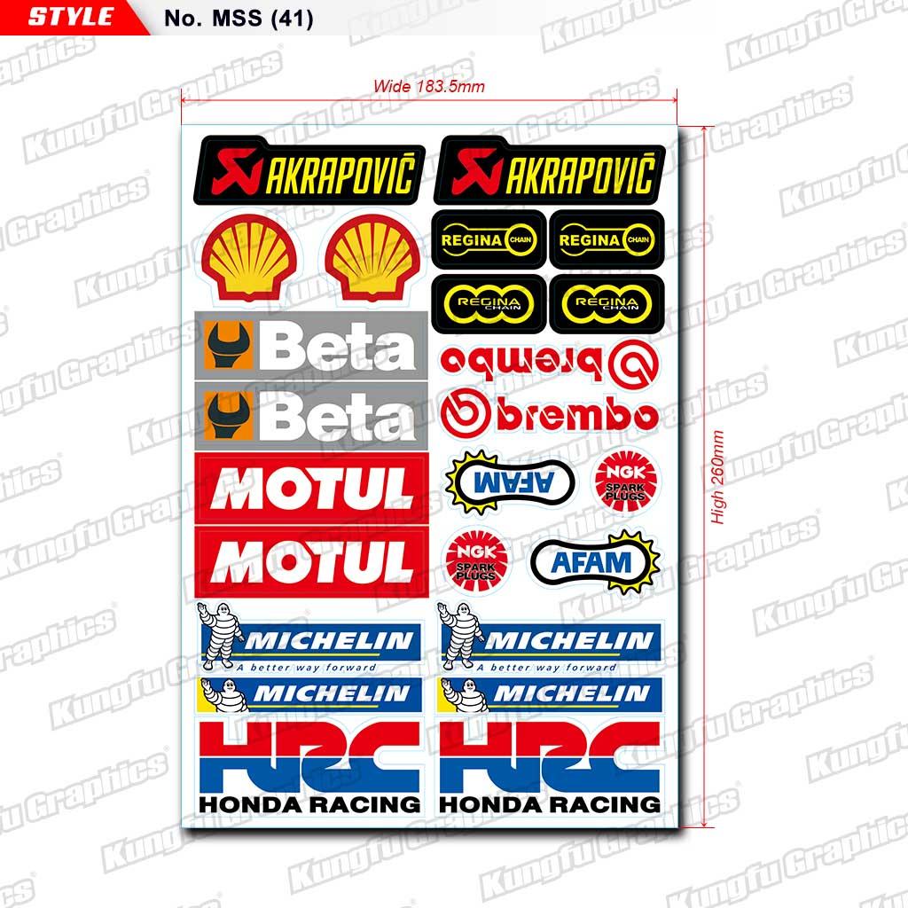 sticker autocollant Michelin sponsor tuning auto moto