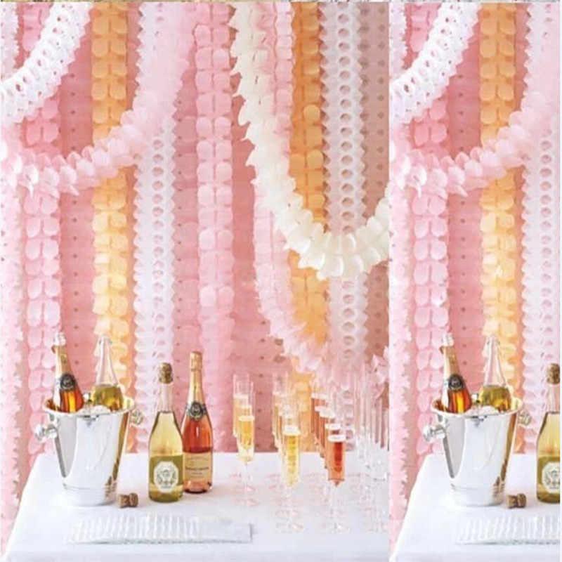 Bonito 3.6 m quatro folhas trevo guirlandas de papel para a festa de aniversário do casamento decoração para casa