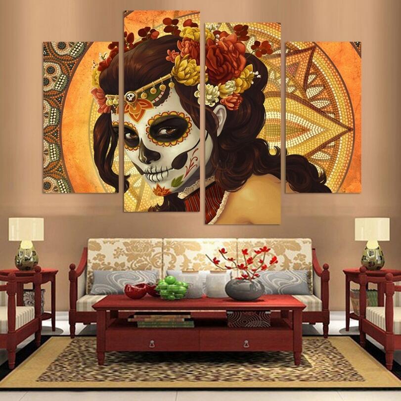 Gypsy Girl Cuadros Arte de la Pared Pintura 4 Panel Grupo Imagen ...
