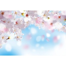Laeacco Spring Blooming Flowers Light Bokeh Scenic Photography Background Customized Photographic Backdrops For Photo Studio