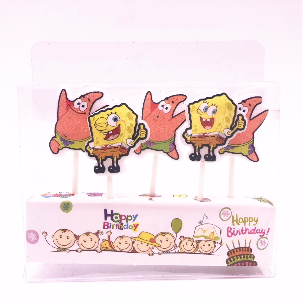 Spongebob Party Supplies Kids Birthday Candles Evening Party ...