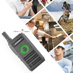Image 5 - SOCOTRAN SC 600 UHF mini walkie talkie Amateur Radio 400 470MHz Ultra slim two way radio double PTT breathing light