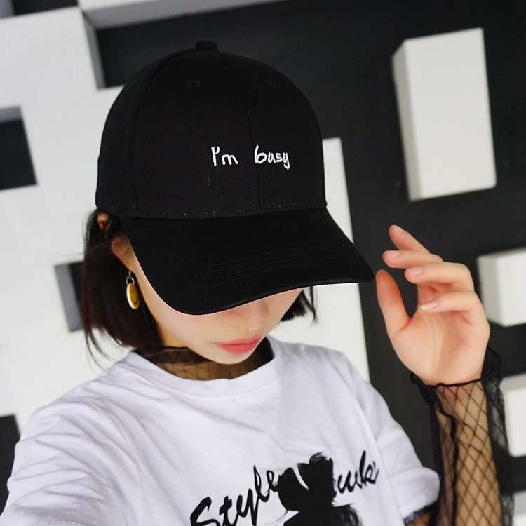 2018 Fashion Letter I'm Busy Cap Women Men Embroidery Baseball Caps Custom Adult Casual Snapback Hats Sport Casquette Gorras