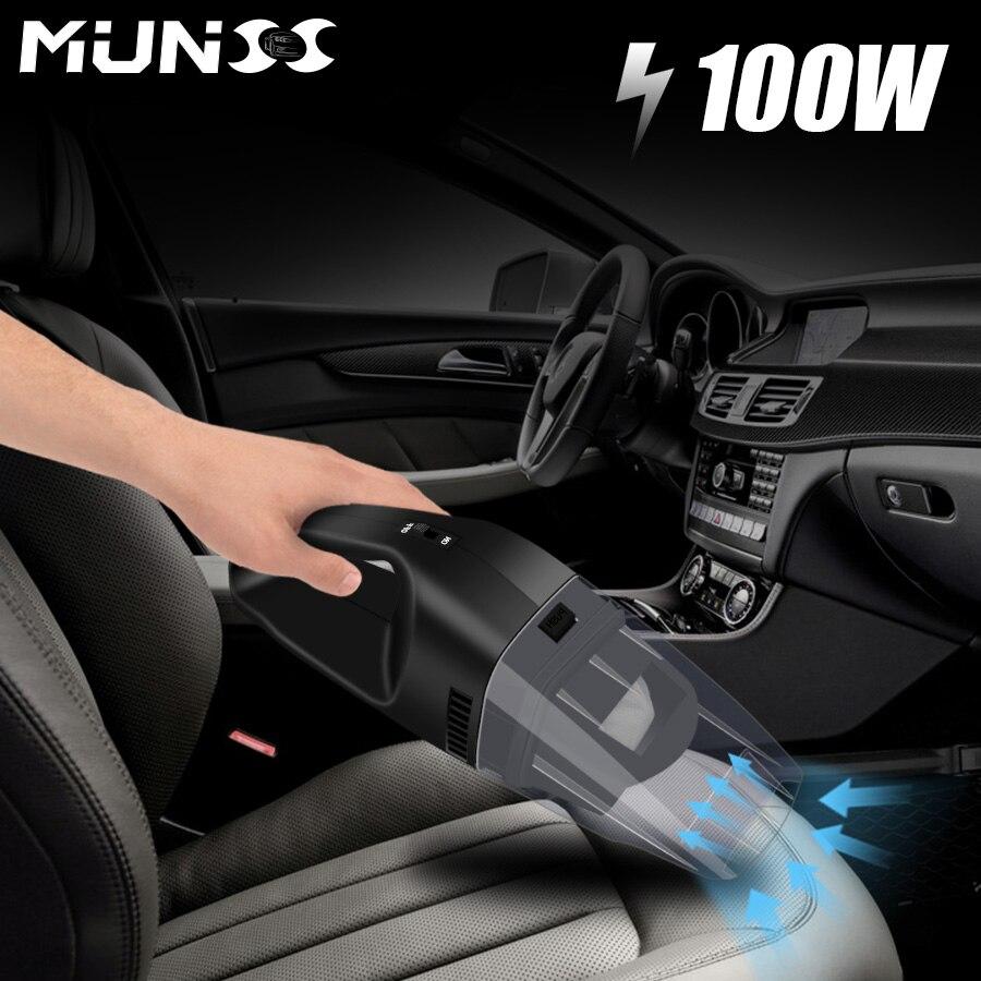 2018 100 W munss mini coche Partes de aspirador limpiador del coche portátil de mano 12 V potente auto Utensilios de limpieza coche Partes de aspirador 3609