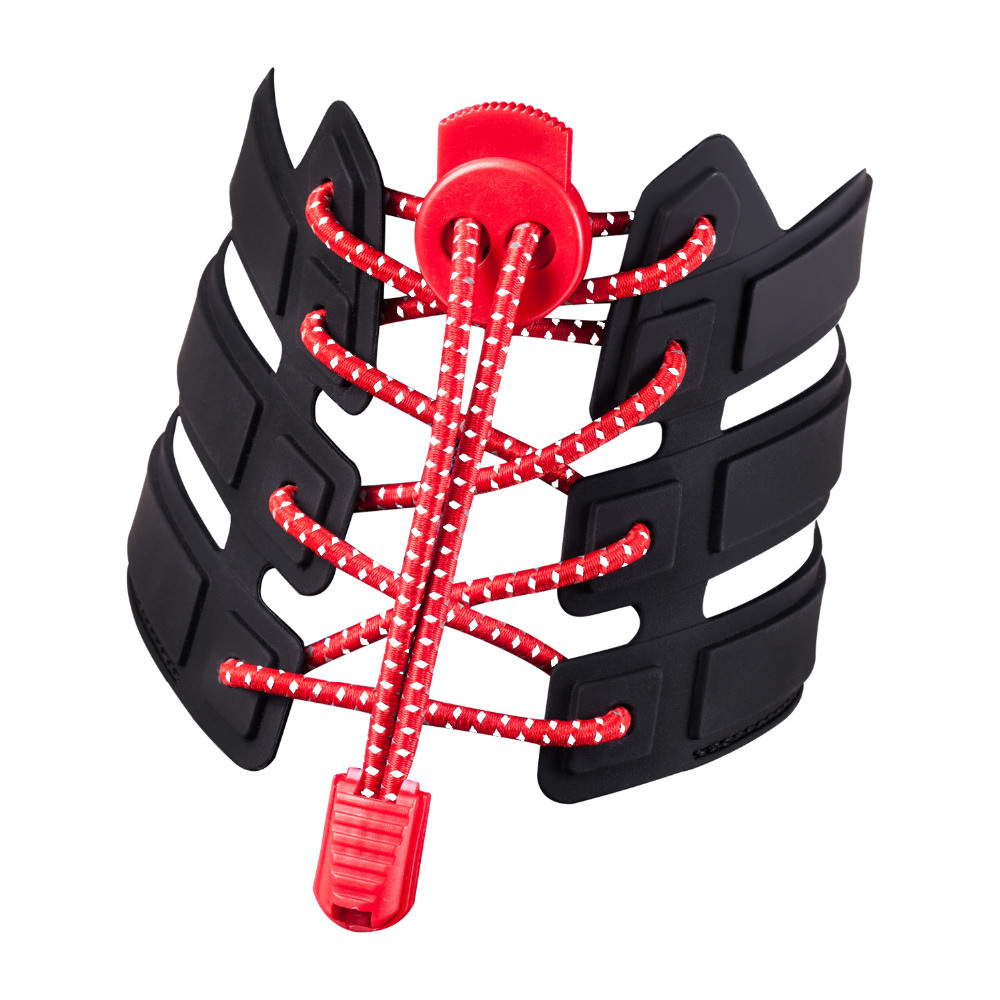 Reflective Red Bungee Shoe Laces Elastic Run Sport Lock Tri Triathlon Lace