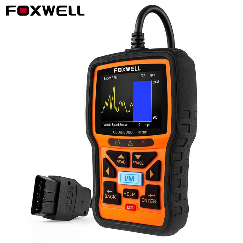 купить Foxwell NT301 OBD2 Scanner ODB2 Diagnostic Scanner Universal Automotive Diagnostic Tool with Multi-language Better than KW850 по цене 3890.27 рублей