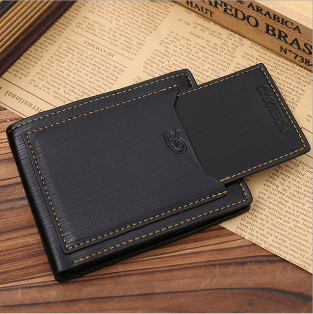 7e0088ddfbc9 New Black Mens cow leather bifold wallet credit ID card holder slim purse  Free Shipping