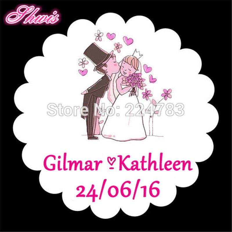Decorative Wedding Invitation Badge 7: 100pcs Wedding Self Adhesive Paper Stickers Candy Box