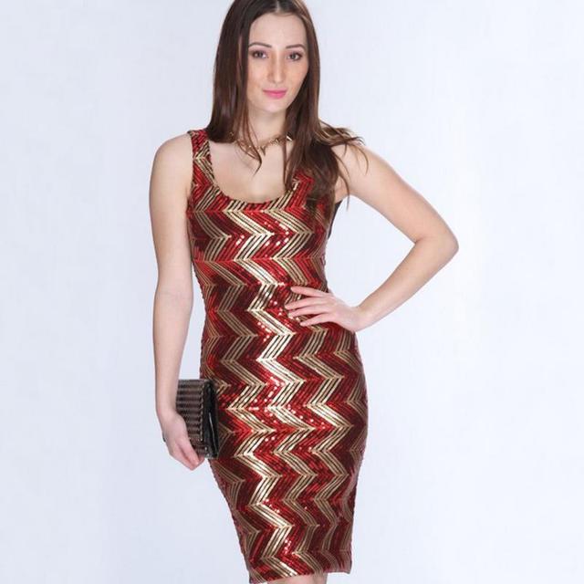 d74253a331 New women summer high-quality dress vestido sexy O-neck sleeveless wave  transfer stitching dress vestidos plus size G26