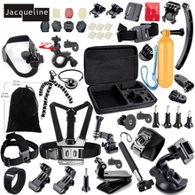 Accessories Set Kit Mount for gopro go pro hero 5 4 3 2 1 Black Edition SJCAM/Xiaomi yi chest tripod Accessories Kit Holder