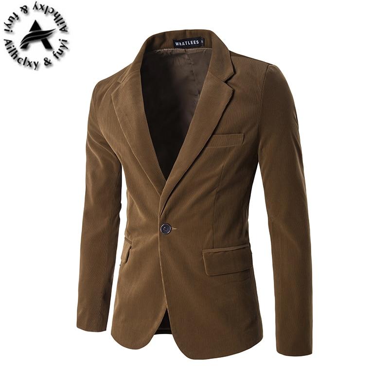 Mens blazer slim fit suit jacket black navy blue velvet 2016 spring autumn outwear coat Free shipping Suits For Men