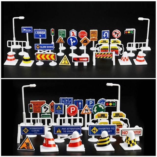 Aprendizaje 2sw0628 Coches Y Para 28 Señales Juegos Accesorios De Juguete En Piezas Unids Tráfico Juguetes Niños v0wymN8nO