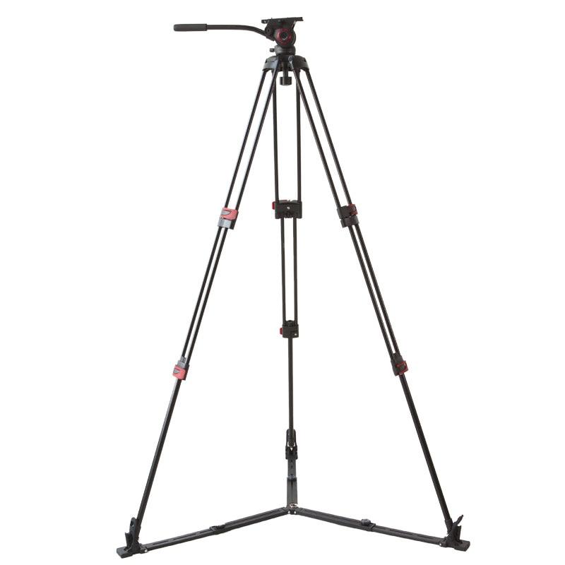 miliboo Portable tripod MTT609A/B Aluminum/Carbon fiber professional video camcorder Tripod VS manfrotto tripod Heavy duty 15KG