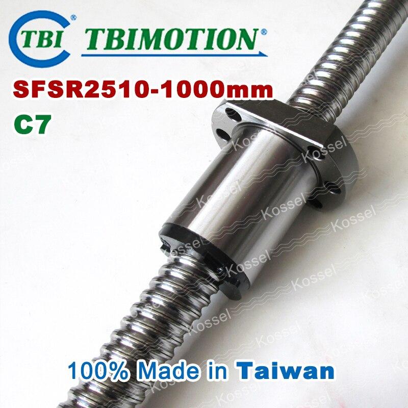 ᗐTBI vis  billes 2510 C7 1000mm avec SFS écrou  billes SFS2510