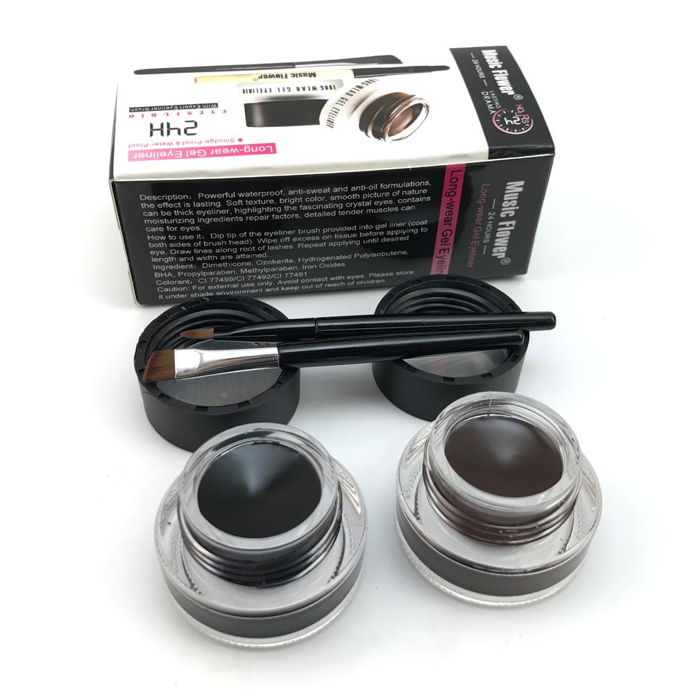2 in 1 brown + black gel eyeliner make up free shipping waterproof freeshipping cosmetics set eye liner makeup eye 10
