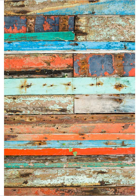 5x7ft Vintage Color Shabby Wood Pallets Wall Custom Photo