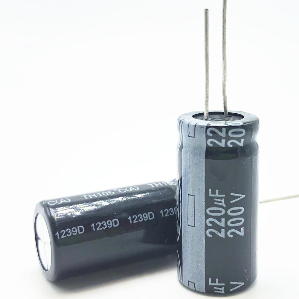 2~50pcs Only good quality <font><b>200V</b></font> <font><b>220UF</b></font> 18*30 20% RADIAL aluminum electrolytic capacitor 220000nf 20% image