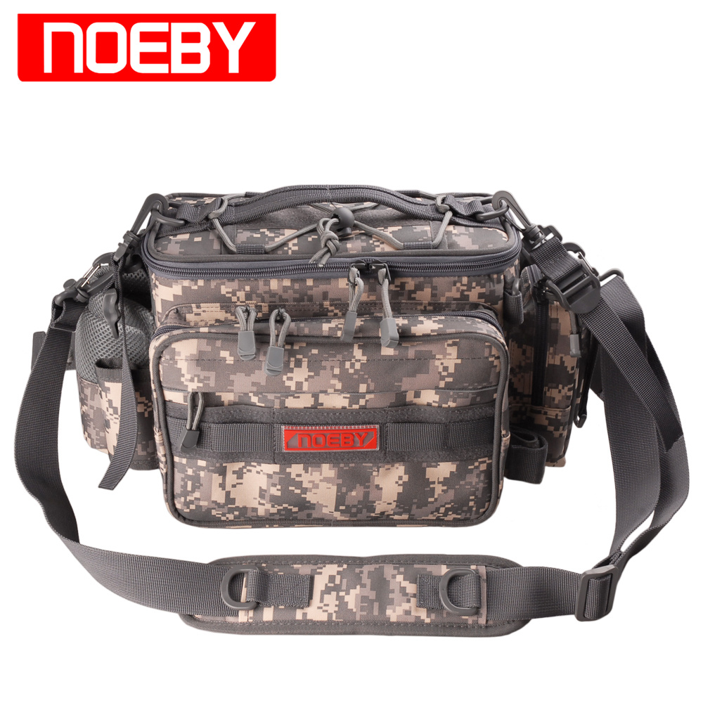 цена на New Arrival NOEBY Fishing Bag 27.5*11*21cm Multifunctional Waist Pack Fishing Tackle Outdoor Bagpack Bolsa Pesca Free Shipping