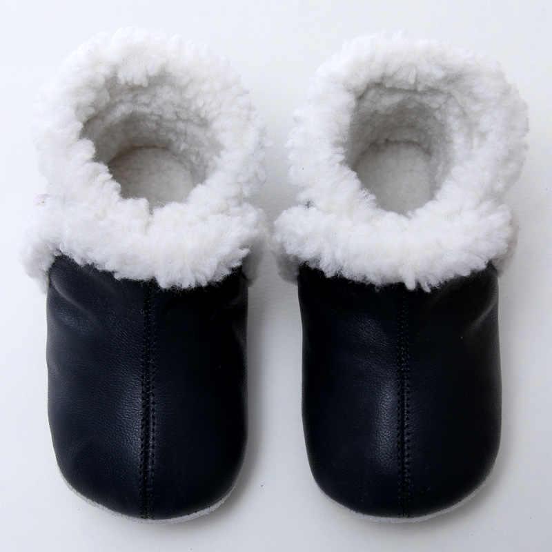 Lederen Baby Laarzen Winter Snowboots Baby Voor Meisje Warme Baby Boot Jongens Snowboots Schoenen voor Kids 0- 24m Soft Sole Baby Booties