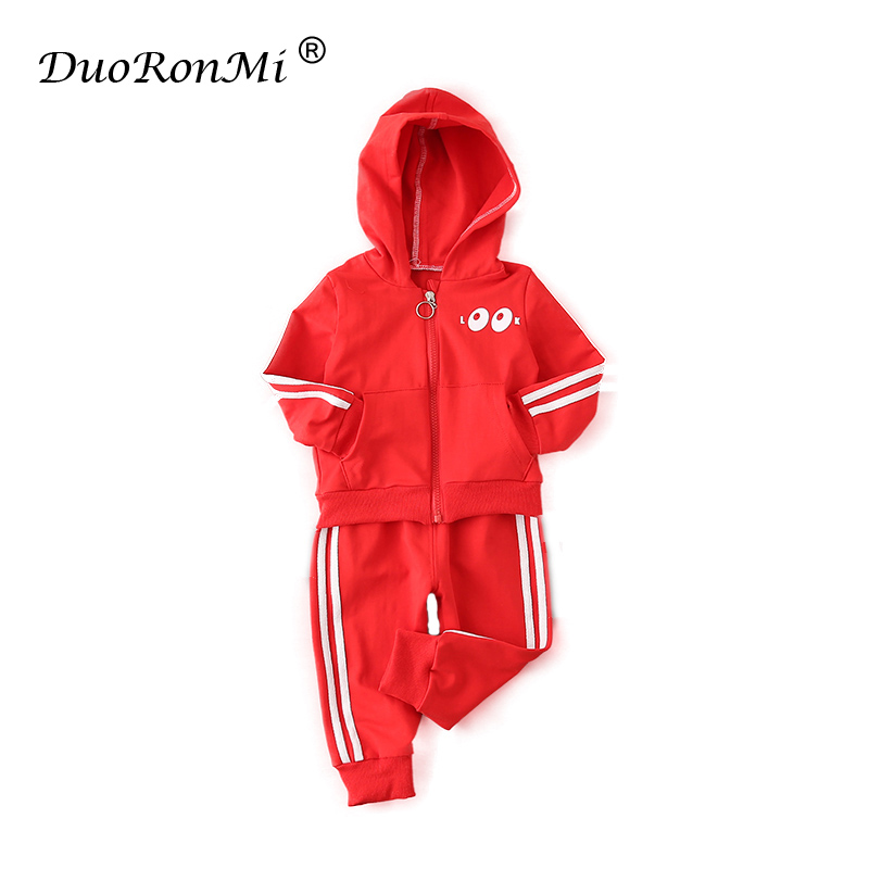 Baby Boys Spring Clothing Sets Solid Zipper Tracksuits Jackets+Pants 2PCS Sports Suit for Boy Kids Outwear Clothes Cotton Outfit