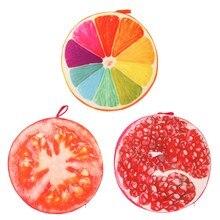 40 cm 3D de Impresión de Frutas de Verano de Algodón de LOS PP Oficina Silla Cojín Del Sofá Cojín Decoración Para El Hogar