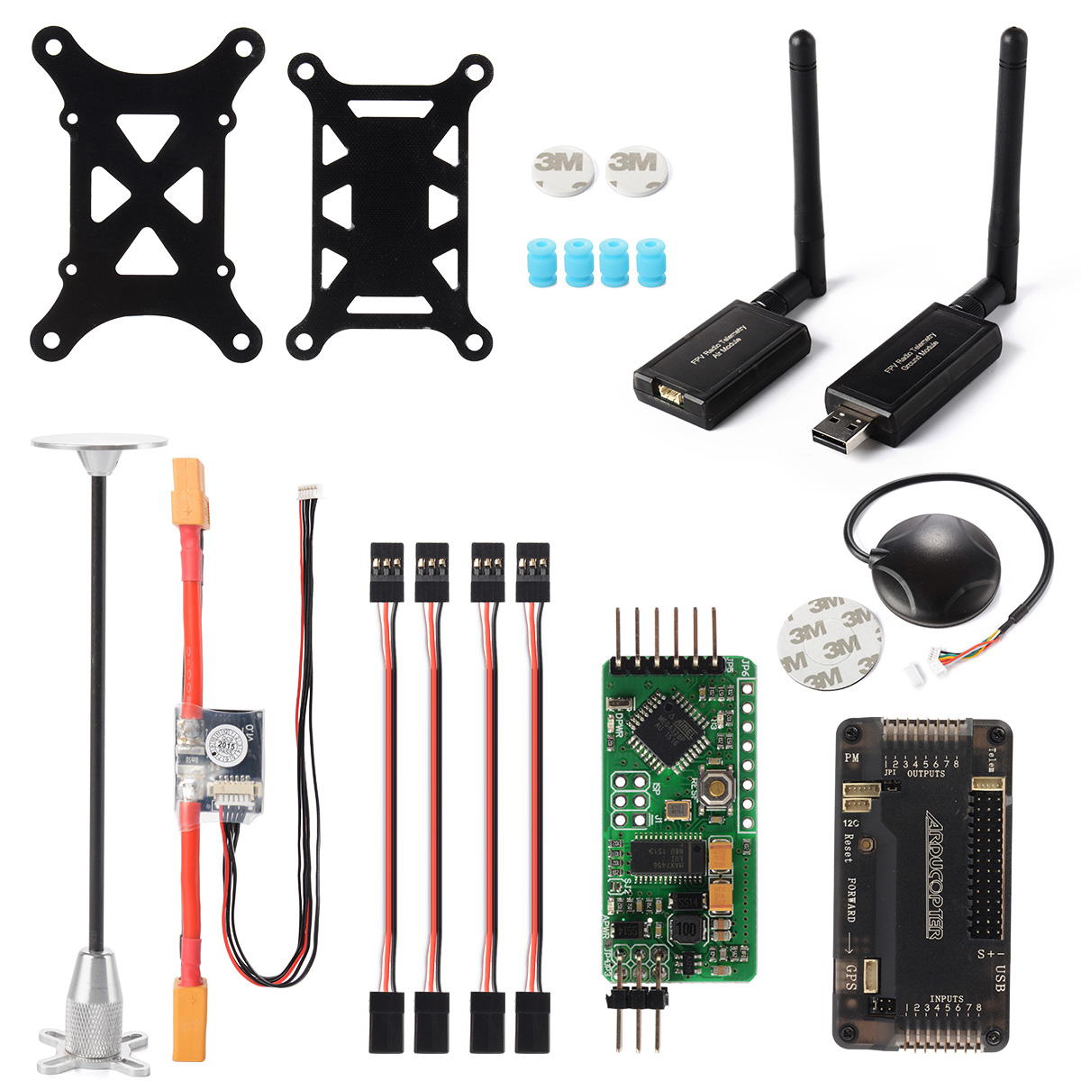 APM2.8 ArduPilot Flight Controller Ublox Neo-6M GPS OSD 915Mhz Telemetry RC150 minimosd on screen display osd board apm telemetry to apm 1 and apm 2