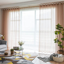 BHD Soild Tulle Sheer Window Curtains for living room the Bedroom Modern Tulle Organza Curtains Fabric Blinds Drapes for Kitchen(China)
