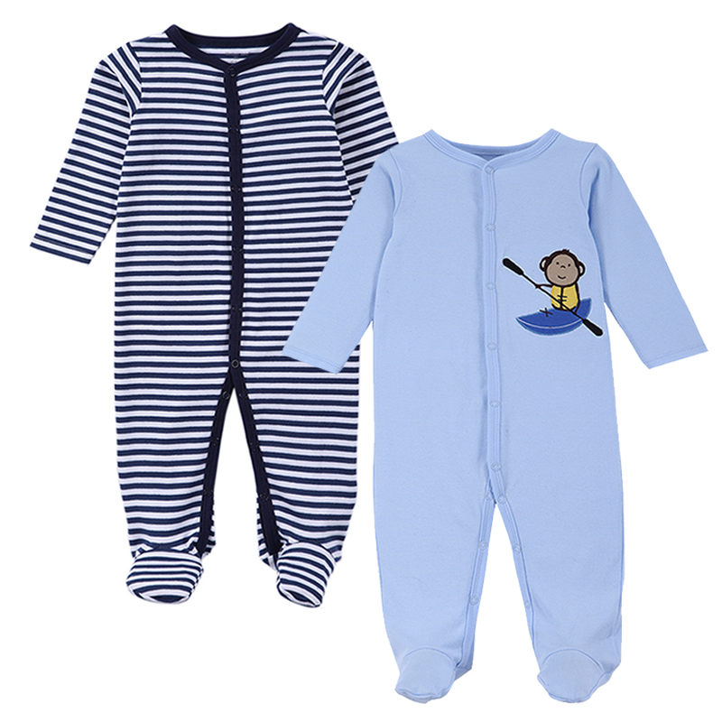 2016 New Brand Spring Summer Baby Rompers Pajamas Boys Girl Clothes Cute Monkey Newborn Jumpsuits Infant Clothing Sleepwear 100% cotton ropa bebe baby girl rompers newborn 2017 new baby boys clothing summer short sleeve baby boys jumpsuits dq2901